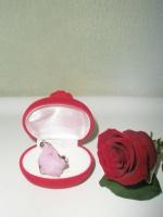 Δακτυλίδι Ροζ Χαλαζία
