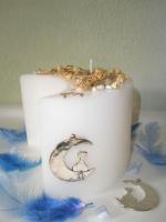 Κερί-Πανσελήνου με μαργαριτάρια