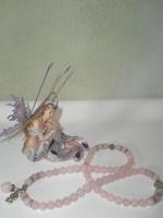 Φυλακτό Βραχιόλι Ροζ-κουάρτζ