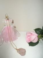Φυλακτό μενταγιόν με Ροζ κουαρτζ